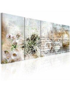 Tableau XXL Abstract Dandelions I Fleurs et plantes Artgeist
