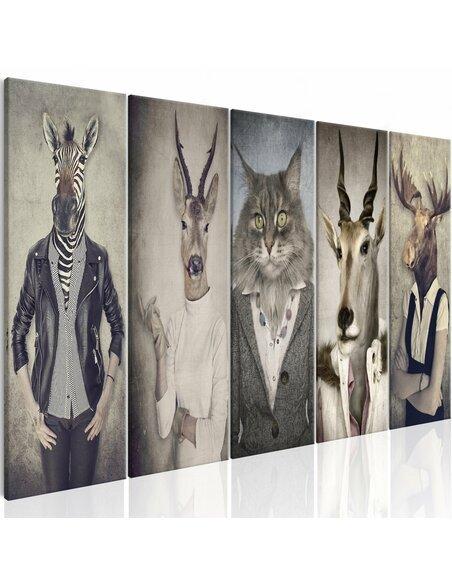 Tableau ANIMAL MASKS I - par Artgeist
