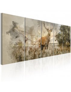 Tableau XXL Watercolour Deer I Tableaux Animaux Animaux divers Artgeist