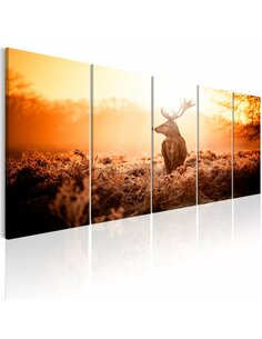 Tableau XXL Deer at Sunset Tableaux Animaux Animaux divers Artgeist