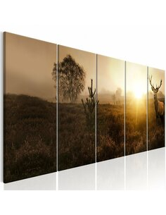 Tableau XXL Foggy Morning I Tableaux Animaux Animaux divers Artgeist