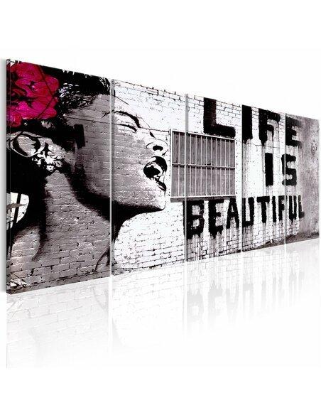 Tableau BANKSY: LIFE IS BEAUTIFUL - par Artgeist