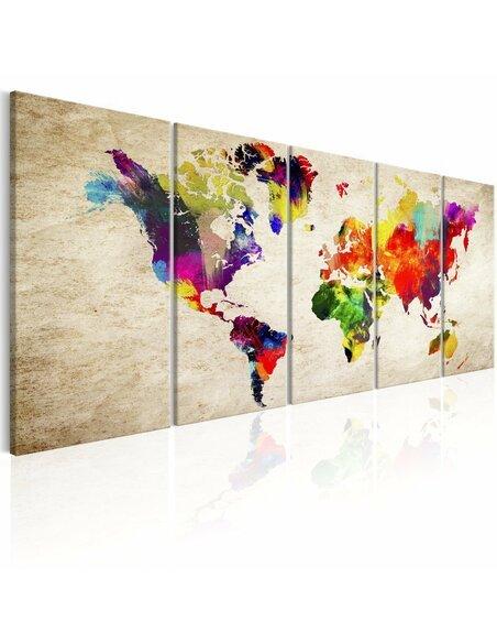 Tableau WORLD MAP: PAINTED WORLD - par Artgeist