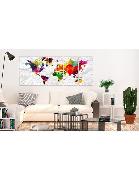 Tableau WORLD ON PAPER - par Artgeist