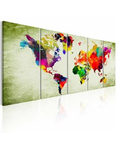 Tableau XXL Colourful Continents Cartes du monde Artgeist