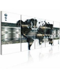 Tableau XXL Three-dimensional Map Modernes Artgeist