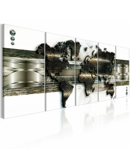 Tableau XXL World Map: New Technologies Tableaux Abstraction Modernes Artgeist