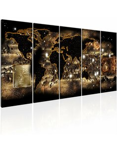 Tableau XXL World at Night Tableaux Cartes du monde Artgeist
