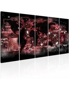 Tableau XXL Red Light Tableaux Cartes du monde Artgeist