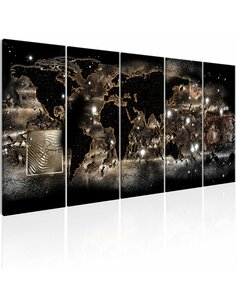 Tableau XXL Earth Glow Tableaux Cartes du monde Artgeist