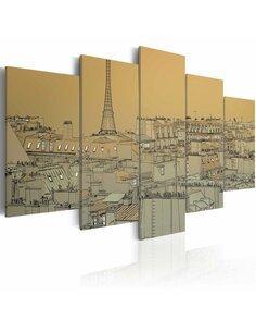 Tableau CE BON VIEUX PARIS Vintage - par Artgeist