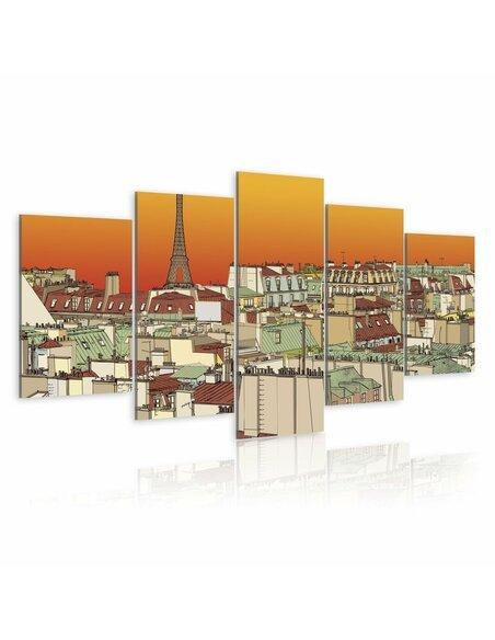 Tableau CIEL PARISIen COULEUR DE L'ORANGE - par Artgeist