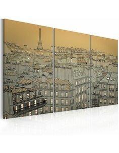 Tableau DERNIERS MOMENTS DE LA JOURNÉE PARIS - par Artgeist