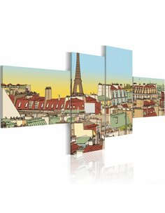 Tableau FABULEUX PARIS - par Artgeist