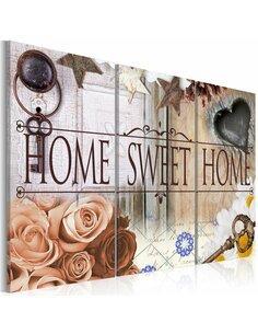 Tableau HOME IN Vintage STYLE - par Artgeist