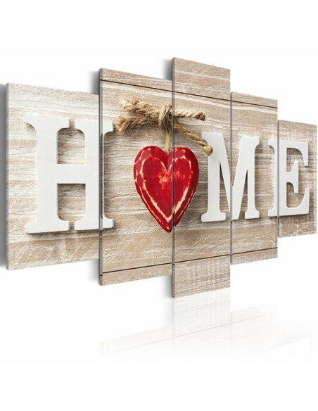 Tableau HOME: HOUSE OF LOVE - par Artgeist