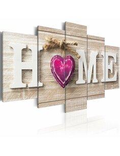 Tableau HOME: PINK HEART - par Artgeist