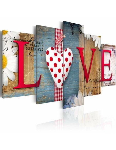 Tableau LOVE HANDMADE - par Artgeist