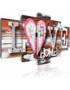 Tableau LOVE HOME - par Artgeist