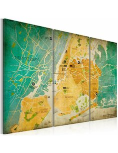 Tableau MAP OF NEW YORK CITY'S: NEIGHBORHOODS - par Artgeist