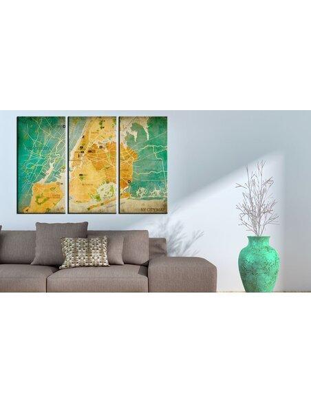 Tableau MAP OF NEW YORK CITY'S: NEIGHBORHOODS - par Artgeist