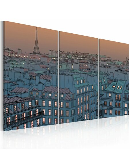 Tableau PARIS LA VILLE SE MET EN VEILLE - par Artgeist