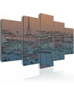 Tableau PARIS À LA TOMBÉE DU JOUR - par Artgeist