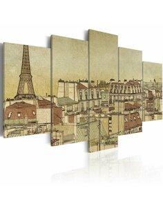 Tableau PARIS AU SIÈCLE DERNIER - par Artgeist