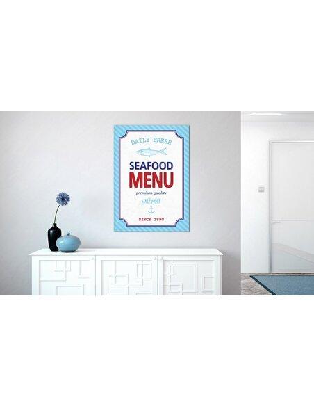 Tableau SEAFOOD MENU - par Artgeist
