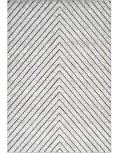 Tapis DOMINIQUE DELICES Argent Blanc - par Arte Espina