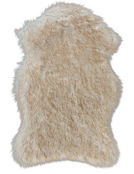 tapis fourrure andorre la massana beige blanc lalee 66 90 c. Black Bedroom Furniture Sets. Home Design Ideas