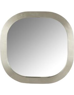 Miroir carrée Arrondi Bois Argent BODDINGTON - par J-Line