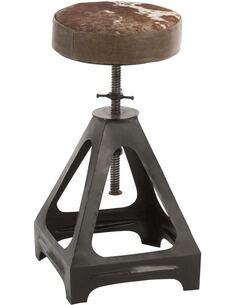Chaise ajustable Metal Cuir BONALBO - par J-Line