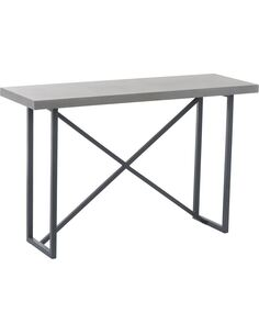 Console Beton Finish Rectangulaire bois métal BONDI - par J-Line