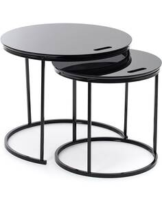 x2 Tables SET GREG Noir - par Arte Espina