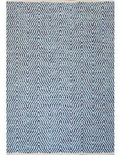 Tapis fait à la main 410 Bleu APPETIZER - par Arte Espina