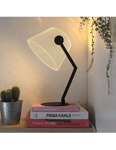 Lampe BLACK ZIGGY 3D Lumière Led - par Studio Cheha