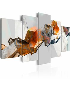 Tableau FIERY BLOCKS - par Artgeist