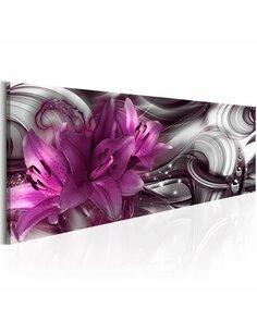 Tableau Fond violet Fleurs variées Artgeist