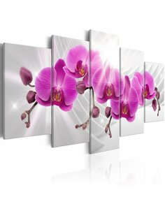 Tableau ABSTRACT GARDEN: PINK ORCHIDS - par Artgeist