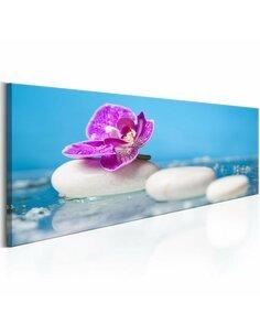 Tableau Orchidée rose et pierres zen Zen Artgeist