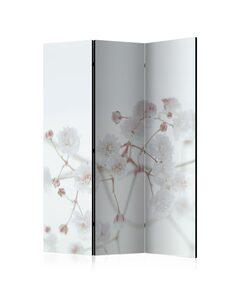 Paravent 3 volets WHITE FLOWERS - par Artgeist