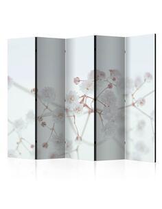 Paravent 5 volets Fleurs blanches II [Chambre Intercalaires] Paravents 5 volets Artgeist
