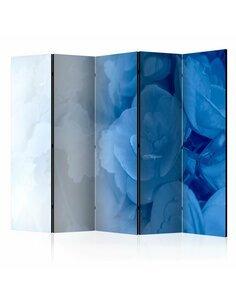 Paravent 5 volets BLUE BOUQUET II - par Artgeist