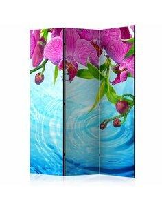 Paravent 3 volets ORCHIDS OVER WATER - par Artgeist