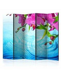 Paravent 5 volets ORCHIDS OVER WATER II - par Artgeist