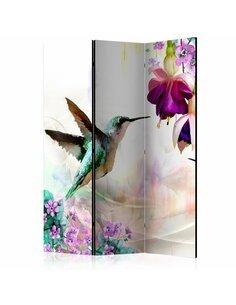 Paravent 3 volets HUMMINGBIRDS AND FLOWERS - par Artgeist
