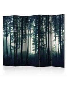 Paravent 5 volets NATURE: DARK FOREST II - par Artgeist