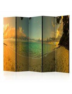 Paravent 5 volets Coucher de soleil à Tahiti II [Salle Intercalaires] Paravents 5 volets Artgeist