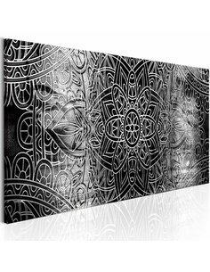 Tableau Mandala: gris Profondeurs Zen Artgeist